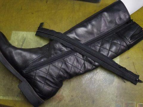 婦人ブーツ ファスナー交換例 3