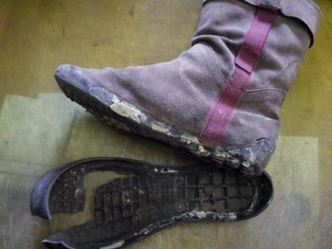 カンペール ブーツ オールソール例 2-3