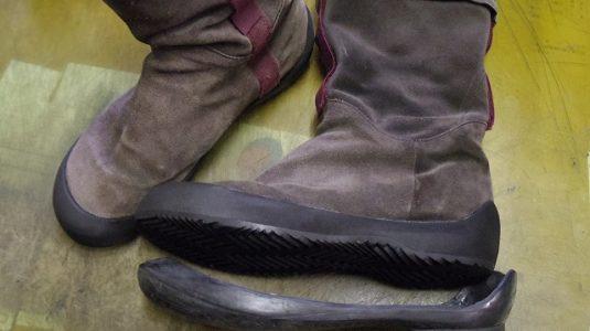 カンペール ブーツ オールソール例 3-1