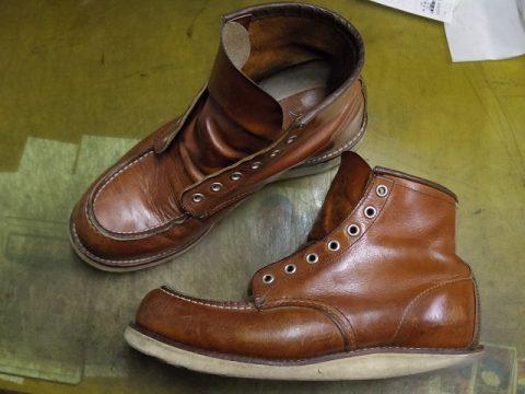 レッドウイングブーツ オールソール例 2-1