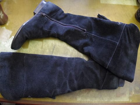 婦人ブーツ ライニング全交換例 2-1