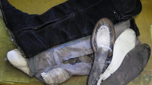 婦人ブーツ ライニング全交換例 3-1