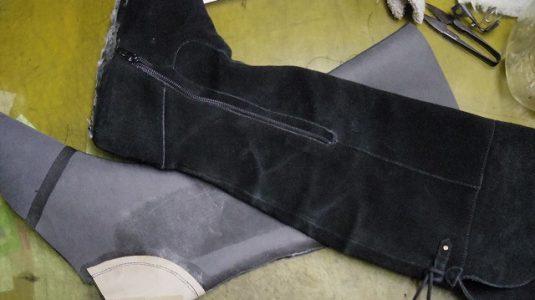 婦人ブーツ ライニング全交換例 3-2