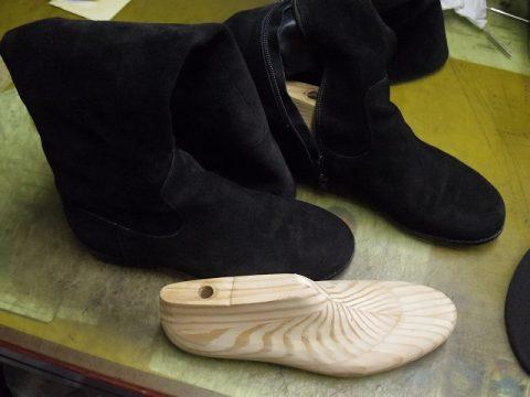 婦人ブーツ ライニング全交換例 4-1