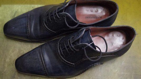 紳士靴 ハーフソール例 2-1