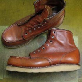 ブーツ オールソールおよび履き口補修例