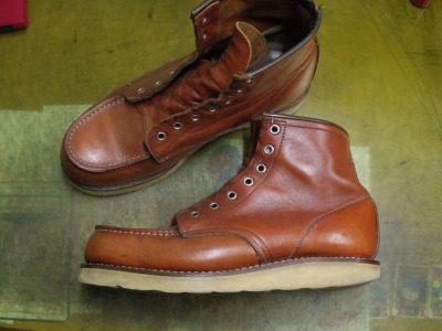 ブーツ オールソールおよび履き口補修例 2-1