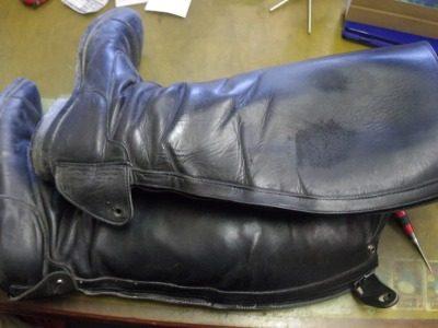 乗馬用ブーツ ファスナー交換例 2-1