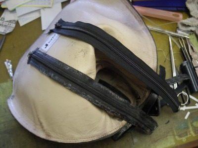 乗馬用ブーツ ファスナー交換例 3-1