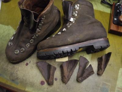 重登山靴 甲ベロ交換例 3-3
